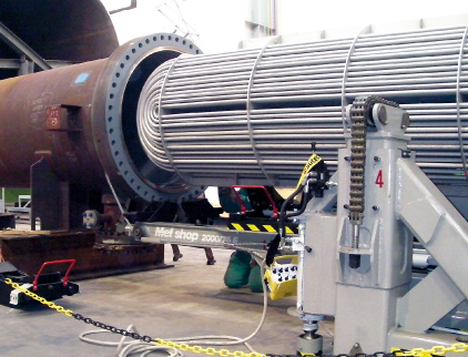 Tube bundle insertion Maus Italia