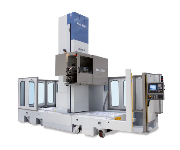 MA-2501 - CNC single- or double-axis work centre with mobile base for rolling, facing, grooving and TIG orbital welding of tube bundles